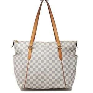 Auth Louis Vuitton Totally MM Damier Azur Tote Bag